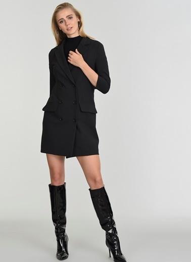 People By Fabrika Ceket Elbise Siyah